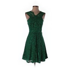 Pre-owned Sandro Casual Dress Size 1: Dark Green Junior Dresses ($108) ❤ liked on Polyvore featuring dark green and sandro
