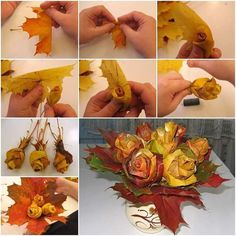 Magestic Handmade Maple Leaf Origami Bouquet
