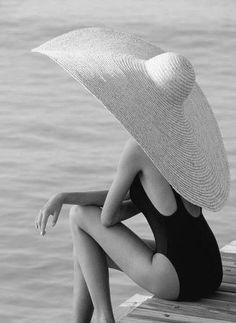 #blackandwhite #female giant hat