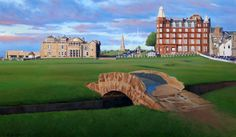 St. Andrews golf course, 30x18 oil on canvas.