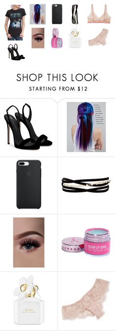 """""""Sleeping With Sirens"""" by cassieee-m ❤ liked on Polyvore featuring Giuseppe Zanotti, Manic Panic NYC, Kenneth Jay Lane, Marc Jacobs and I.D. SARRIERI"""