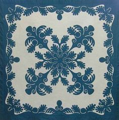 Beautiful blue and white quilt