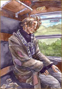 Lupin Sleeping on the Hogwarts Express