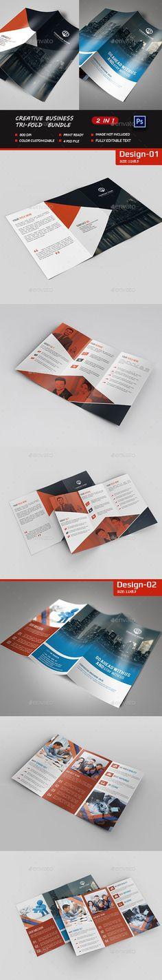 Creative Business Tri-Fold Bundle - Brochures Print Templates