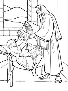 Jesus Restores Jairus\' Daughter To Life Coloring Page | Coloring ...