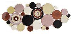 Handmade Bubbles Mosaic Tile in Cappuccino Blend #brown #cream #black #circletile #kitchentile #bathroomtile