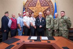 Top officials from the Oklahoma National Guard recognized several members of the Warr Acres community for their participation in Operation Vigilant Guard 2017. Pictured from left to right is American Legion Commander Greg James Warr Acres Vice Mayor Jim Mickley Warr Acres Public Works Representative Mike Turman Warr Acres Assistant Fire Chief Jason Mahaffey Warr Acres Fire Chief Stephen Coy Warr Acres Mayor Patrick Woolley interim adjutant General for Oklahoma Brig. Gen. Louis Wilham…