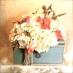 "www.etsy.com, Wedding Card Box - 1 Tier, 12"" Square, Reception Card Box, Reuseable Gift Box, Prewrapped. $89.00, via Etsy."
