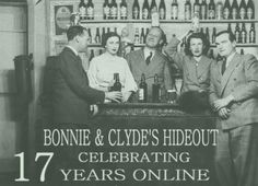 I have a bizarre obsession with Bonnie and clyde. This site has cool pictures. Bonnie and Clyde's Hideout.