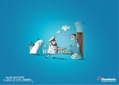 DOMINOS - Cannes Lions 2013 Print Ad illustrations by Yusuf Tansu Özel, via Behance
