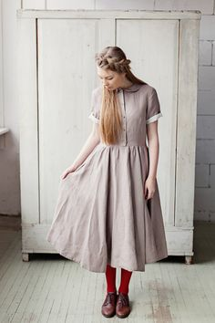 LAVENDER Classic Dress short sleeves Cacao High by SondeflorShop