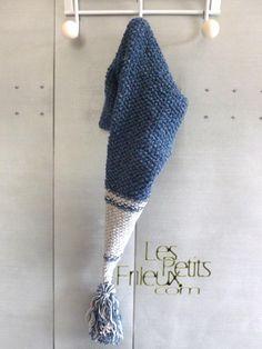 Bonnet lutin coton et acrylique pour bébés : Mode Bébé par www-lespetitsfrileux-com
