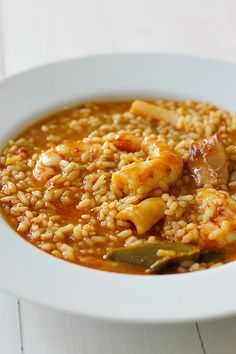 Arroz caldoso con bogavante Hummer, Rice Recipes, Cooking Recipes, Cooking Pasta, Mediterranean Fish Recipe, Seafood Dinner, Happy Foods, Fake Food, Slow Food