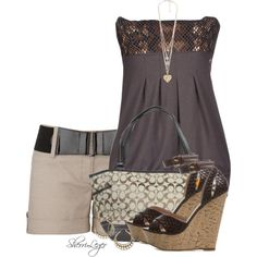 A fashion look from June 2014 featuring MET tops, Coach tote bags and Forever 21 necklaces. Browse and shop related looks. Cool Outfits, Summer Outfits, Casual Outfits, Fashion Outfits, Fashion Trends, Casual Wear, Fashion Shoes, Passion For Fashion, Love Fashion