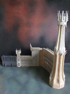 LOTR Scenery building: Hobbiton, Orthanc, etc. Fantasy Castle, Fantasy Rpg, Lotr, Barad Dur, Landscape Model, Warhammer Terrain, O Hobbit, Wargaming Terrain, Prop Design