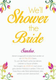 schlüprige einladung für den junggesellinnenabschied - jga, bridal, Einladungen