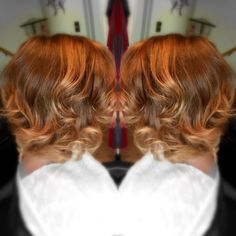 Warm brown and sun kissed blonde sombré hair coloring I did today! #kayshairr #hair