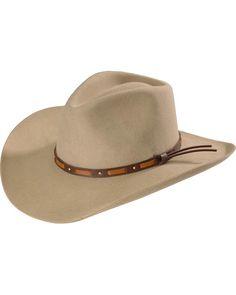 f75150afc0a Stetson Hutchins 3X Wool Felt Cowboy Hat