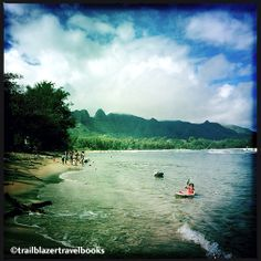 Anahola Beach, Kauai, safe for kids.  from Kauai Trailblazer guidebook