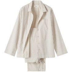 Toast Stripe Flannel Pyjama ($63) ❤ liked on Polyvore featuring intimates, sleepwear, pajamas, lingerie, nightwear, underwear, striped pyjamas, long sleeve sleepwear, flannel pyjamas and long sleeve lingerie