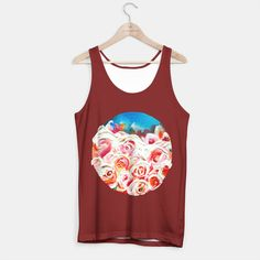 Roses On Fire Tank Top, Live Heroes