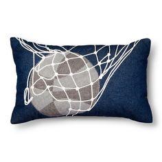 """Basketball Throw Pillow - 20""""x12"""" - Grey - Pillowfort™"""