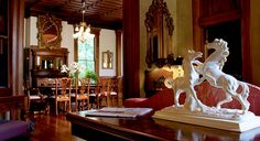 Name of this hotel? Rosemary's Inn!! too cool :)  Elaborate furnishings and original light fixtures lend an air of elegance