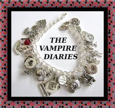 The VAMPIRE DIARIES Inspired Charm Bracelet by princessofscraps, $31.99