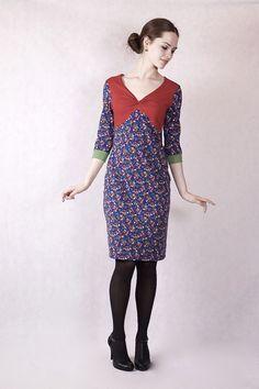 Stretchkleider - NARA ® Alltagskleid geblümtes Kleid  - ein Designerstück von Berlinerfashion bei DaWanda