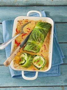 Vegetarische Wirsing-Kartoffel-Roulade