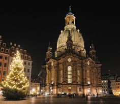 The Frauenkirche, or Church of Our Lady, in Dresden, Germany, was destroyed by bombs in February 1945 and painstakingly rebuilt from 1993 to 2006. It now serves as a symbol of hope and renewal. For more: www.elinorflorence.com/blog/dresden-church.