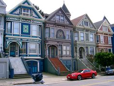 Painted Ladies; Haight-Ashbury, San Francisco, California......Beautiful buildings