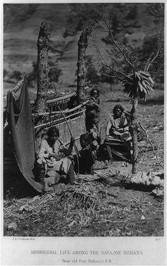 Navajo Weaving taken in 1873.