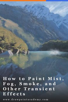 paint mist, fog, smoke, and other transient effects. These effects are typically challenging to capture on a flat surface due to their elusive and fleeting nature. Many artists seem to be either too timid with their approach, or too bold. Oil Painting For Beginners, Acrylic Painting Techniques, Watercolor Techniques, Drawing Techniques, Drawing Tips, Painting Tutorials, Acrylic Painting Lessons, Painting & Drawing, Dot Painting