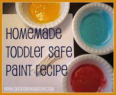 DIY Toddler Safe Paint