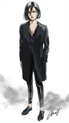 Mikasa Anime, Mikasa X Eren, Armin, Levi Ackerman, Rivamika, Aot Characters, Eremika, Attack On Titan Fanart, Anime Poses