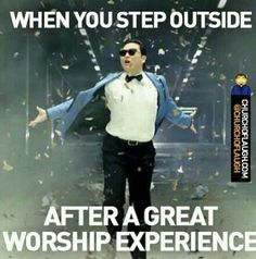 Feeling like nothing can stop you after the Holy Ghost takes over your worship