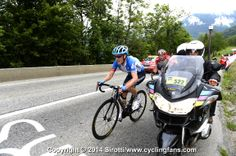 2014_criterium_du_dauphine_stage8_Andrew Talansky (Garmin-Sharp) digs deep in pursuit; he is virtual leader of the race on the road.