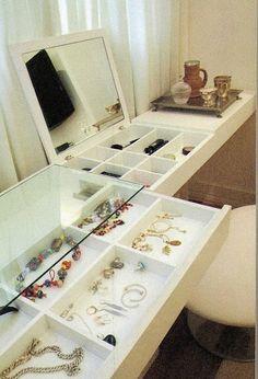 Casa Rosa - Arquitetura e Interiores: Decoração: Penteadeiras e Organização de Maquiagem