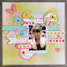 Adorable LO from Doodlebug Blog