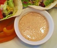 Greek yogurt+salsa+ranch dip mix+taco seasoning mix. To go with tacos, chips, veggies or salad dressing.... oh man ranch and salsa are the best together!! also greek yogurt is such a great replacement for sour cream!! yummy!!!!!!! If more then 1/2 cup would be E