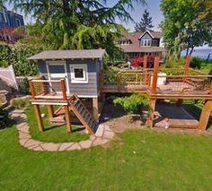 cubby house with deck