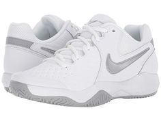 timeless design a4a87 6e0b1 Nike Air Zoom Resistance (White Metallic Silver Wolf Grey) Women s Tennis  Shoes. Dominate the court in the Nike Air Zoom Resistance tennis shoe!