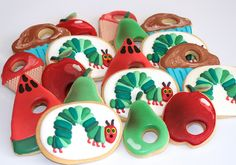 Very Hungry caterpillar cookies by Miss Biscuit