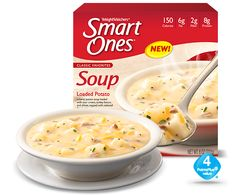 Loaded Potato Soup - Weight Watchers® Smart Ones® Skinny Recipes, Ww Recipes, Low Calorie Recipes, Healthy Recipes, Healthy Foods, Skinny Meals, Healthy Life, Loaded Potato Soup, Creamy Potato Soup