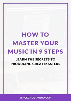 Learn what mastering is, how to set up your mastering studio, and how to master your music for streaming services. Songwriting Techniques, Audio Engineer, Ableton Live, Music Theory, Recording Studio, Your Music, Music Production, Education, Learning