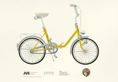 Bicycle Pony - Rog Art Print by Jus Project - X-Small Buy Bicycle, Folding Bicycle, European Models, Retro Bike, Cool Bicycles, Vintage Bicycles, Vintage Ads, Minions, Super Cars