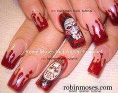"Robin Moses Nail Art: ""halloween nails"" ""scary nail art"" ""scary ..."