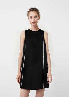 Contrast trim dress - Dresses for Women | MANGO USA