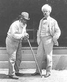 """Mark Twain & John T. Lewis was born a """"back freeman"""" in 1835, Carroll County, Maryland, where he lived the first twenty-five years of his life. At the age of 18 he joined the Church of the Brethren, becoming a lifelong member. In 1860 he moved north to Adams County, Pennsylvania, then settled in Elmira, New York. There he married Mary Stover, who was born in slavery."""